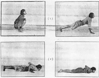 «Прыжок назад» в последовательности Кувалайянанды, 1936.