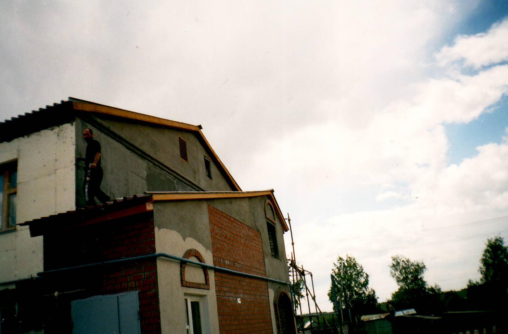 Здание пансионата во время реставрации